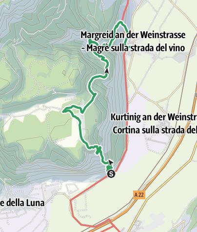 Karte / Der Klettersteig Fennberg