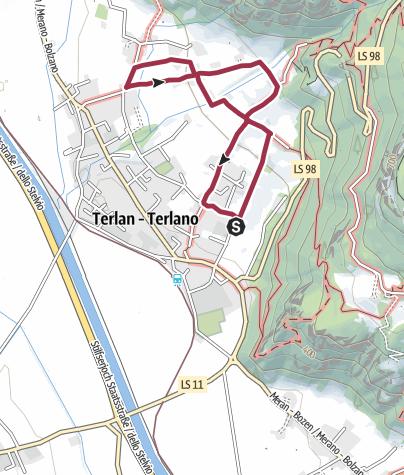 Cartina / Sentiero enologico di Terlano