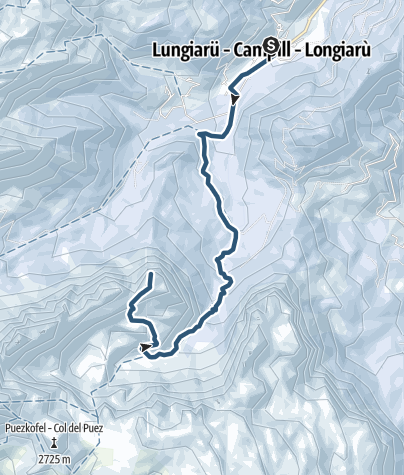 Map / Skitour to Antersasc