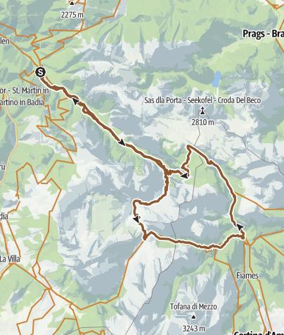 Map / Fanes Senes MTB Tour: beautiful, smart, invincible