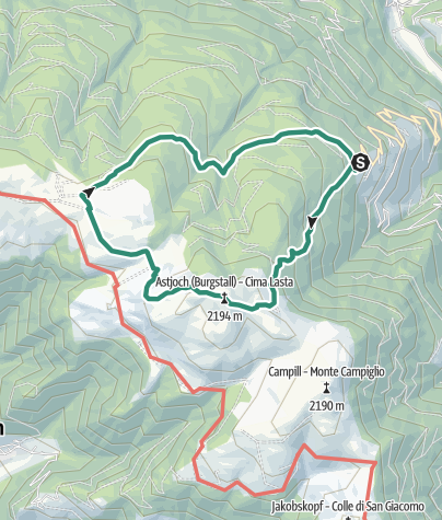 Map / Ins Almgebiet der Rodenecker - Lüsner Almen