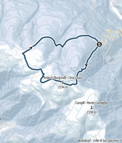 Karte / Skitour Astjoch