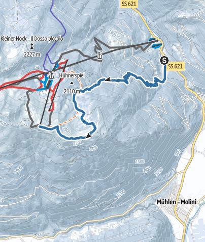 Karte / Skitour: Speikboden - Daimerweg