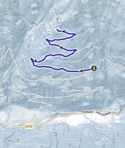 Cartina / Pista slittino Malga Weizgruber