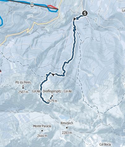 Mapa / Skitour Dreifingerspitze