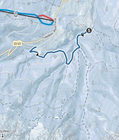 "Map / Snowshoe hike Baths ""Bagni di Pervalle"" - Mountain Inn Trattes"