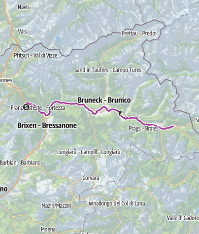 Map / Pustertal Valley bikeway Valdaora/Olang