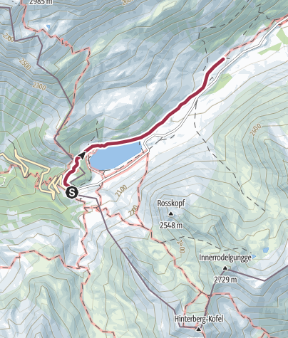 Map / Hiling to the Staller Alm hut