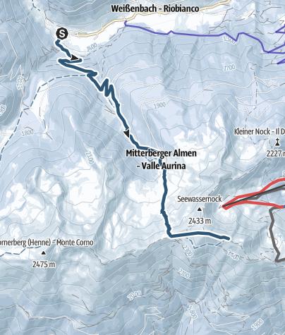 Karte / Skitour zum Speikboden 2.517 m