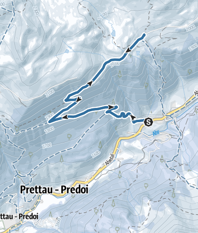 Map / Snowshoe Hiking tour to the Starklalm hut