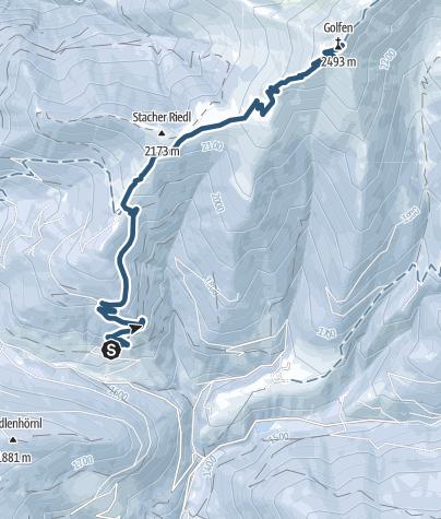 Cartina / Escursione scialpinistica: Franadega - Monte Calvo