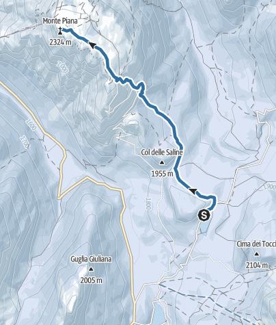 Map / Snowshoe-hiking tour: Misurina - Monte Piano