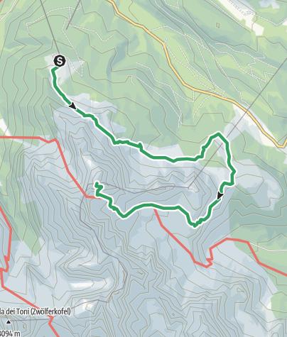 Karte / Klettersteig - Rotwandspitze