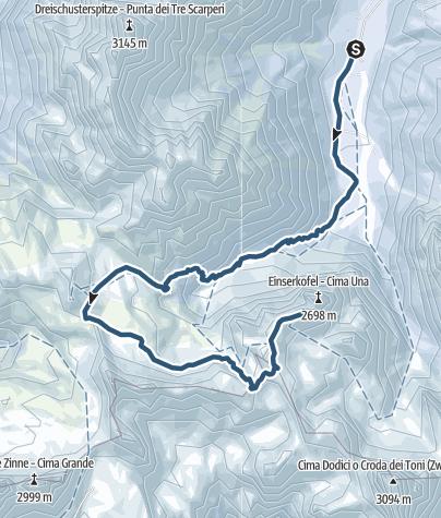 Cartina / Escursione scialpinistica - Crode Fiscaline