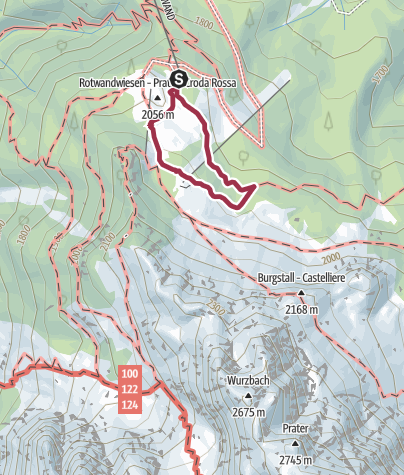 Map / Hiking - The Family route at the Rotwand