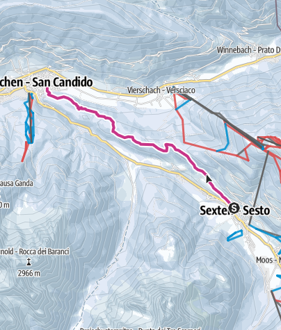 Cartina / Escursione invernale - Da Sesto a San Candido