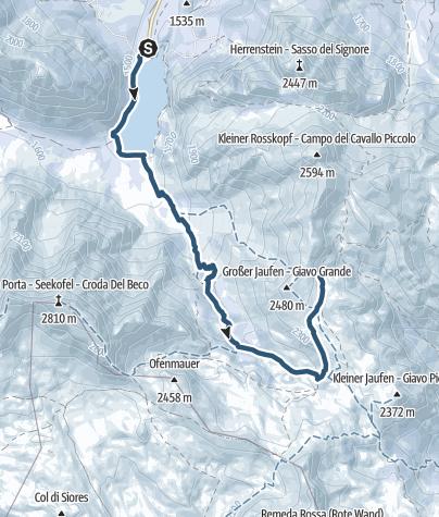 Karte / Skitour Großer Jaufen