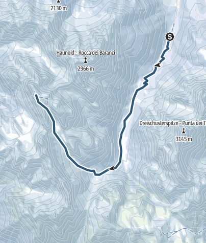 Karte / Skitour: Hochebenkofel