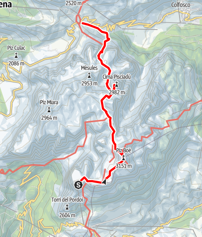 Map / Crossing the Sella