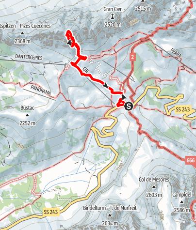 Map / Via ferrata small Cir peak