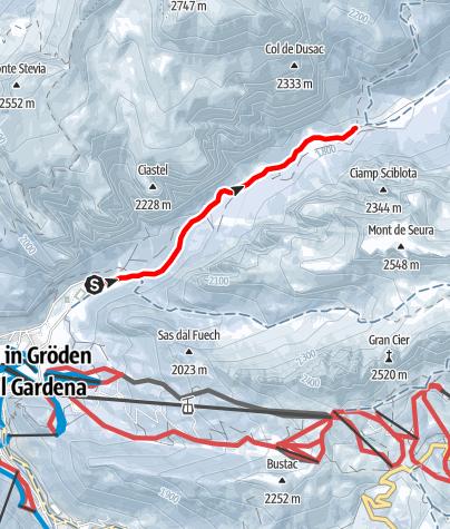 Karte / Schneeschuhwanderung im Langental