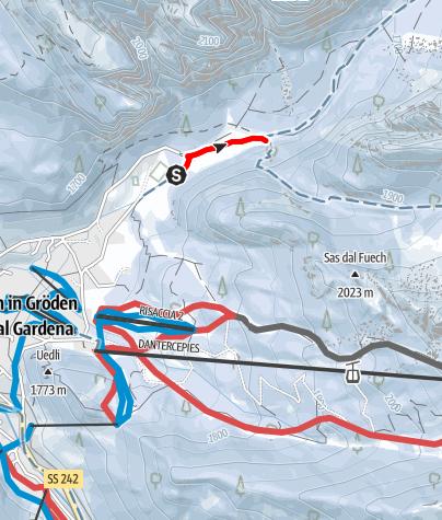 Cartina / Anello di fondo blu