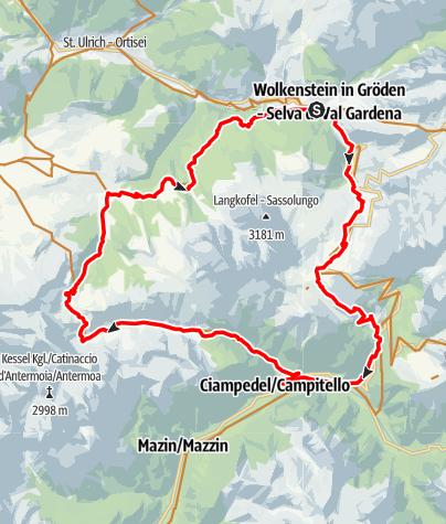 Cartina / MTB Tour Val Duron