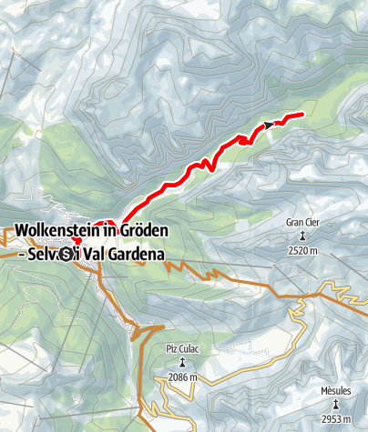 Map / Easy MTB Tour in Vallunga / Langental