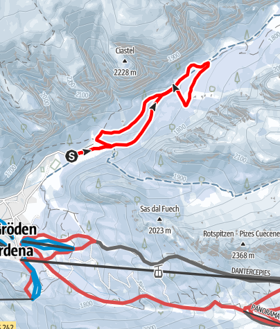 Map / Red cross-country ski run