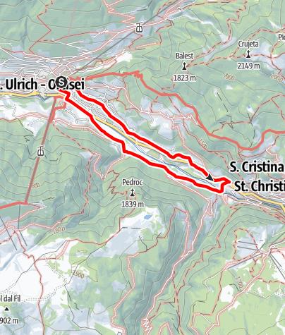 Cartina / Tour circolare di Ortisei
