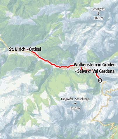 Cartina / Jogging sul sentiero della vecchia ferrovia