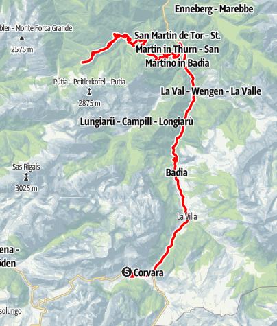 Karte / Rennrad Tour zum Würzjoch