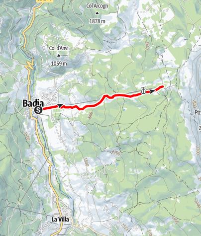 Map / Mountain running Badia - Santa Croce/Heilig Kreuz
