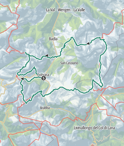 Map / Multi-day trekking on the Alta Badia high route