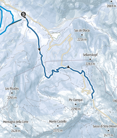 Map / Snow shoes hike through the Armentarola/Saré meadows