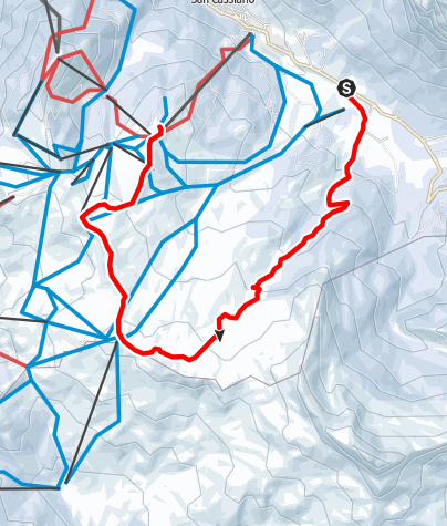 Map / Winter hike through the Störes meadows to the Piz Sorega