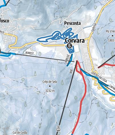 Map / Corvara - Pescosta