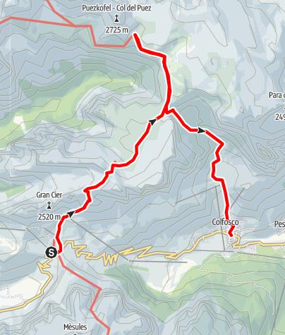 Karte / Wandern am südlichen Rand des Naturparks Puez – Geisler