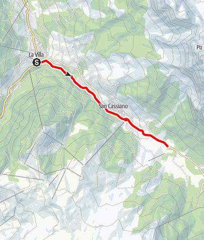 Map / From La Villa to San Cassiano and Armentarola on the Tru di artisć/Path of artists