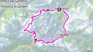 Map / Sella Ronda road bike tour
