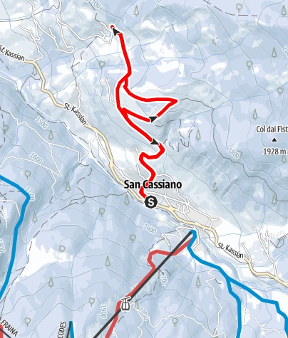 Karte / Winterwanderung auf dem Lärchenweg in San Cassiano