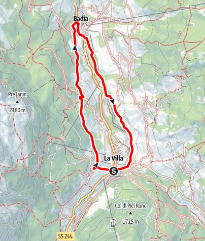 Karte / Spaziergang von La Villa zum Sompunt See