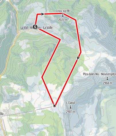 Karte / Tru di pra La Val