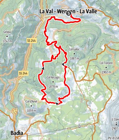 Mappa / MTB Tour Armentara