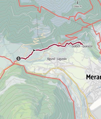 Map / Irrigation channel pathway Algund