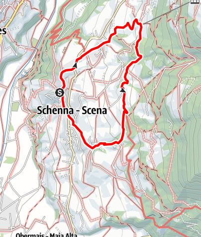Karte / Wanderung auf dem Schenner Waalweg