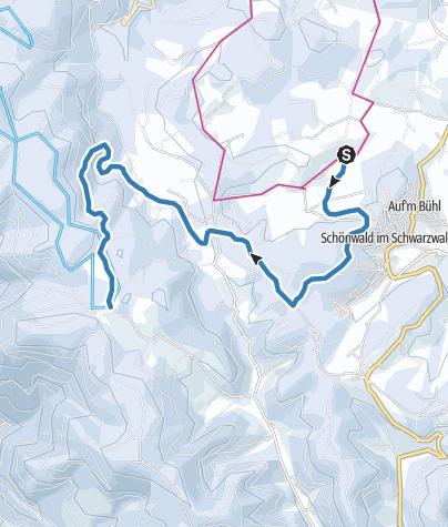 Map / Schönwald - Fernskiwanderweg, Etappe Weißenbach - Martinskapelle