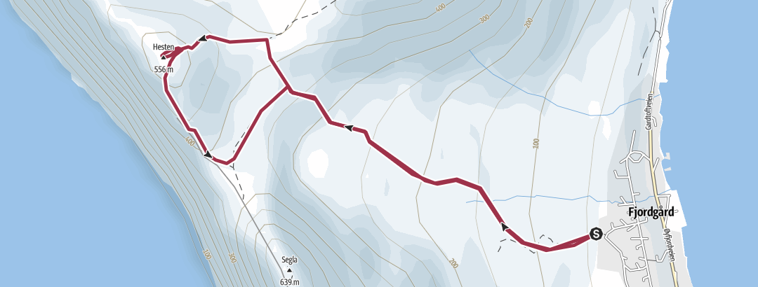 Mapa / Ruta a Hesten