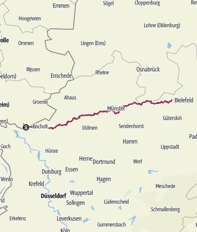 Karte / X 4: Anholt - Halle/Westf.