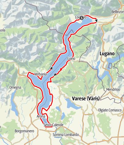 Lago Maggiore Karte.Giro Del Lago Maggiore Motor Bike Outdooractive Com